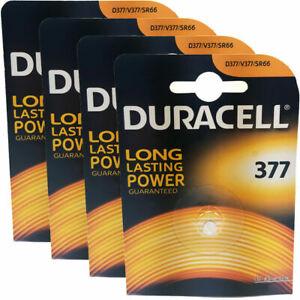 4 x Duracell 377 AG4 SR66 SR626SW Watch Batteries