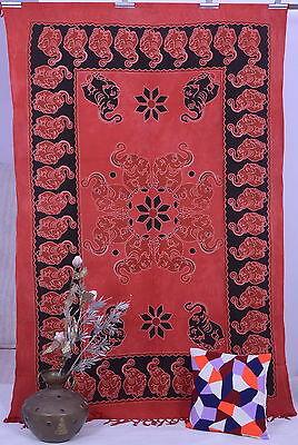 Indian Elephant Mandala Tapestry Wall Hanging Throw Bedspread Decor Hippie Art