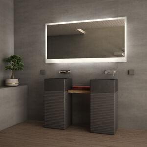 led badspiegel badezimmerspiegel wandspiegel spiegel nach ma mit beleuchtung ebay. Black Bedroom Furniture Sets. Home Design Ideas