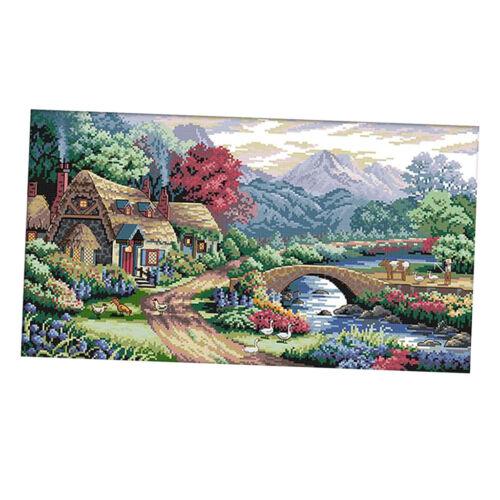 Kreuzstich Kit Farm Szene Muster Weihnachtsgeschenk 14CT 54x33cm