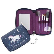 New Starlight Unicorn Cosmetic Make Up Brush Set Gift Sass & Belle Tweezers