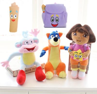 3pcs//set Dora The Explorer Swiper Fox Boots The Monkey Plush Toy Soft Doll Teddy