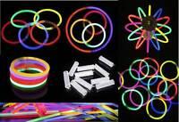 200 8 Glow Sticks Light Sticks W/ Glow Ball Necklaces Bracelets W/connectors