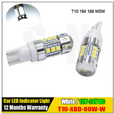 2x 80W Canbus T10 CREE Car LED Bulb Wedge Interior Light Lamp W5W 921 DC12-24V