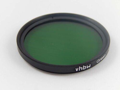 Cámara filtros de color con interior y rosca externa verde para 52mm objetivamente rosca