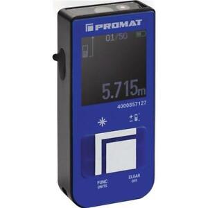 PROMAT Digital Laser Entfernungsmesser 15m Laser Entfernungsmessgerät