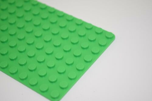 8 NEW Base Plate Genuine LEGO Baseplates 8x16 MiniFigure BRIGHT GREEN Thin