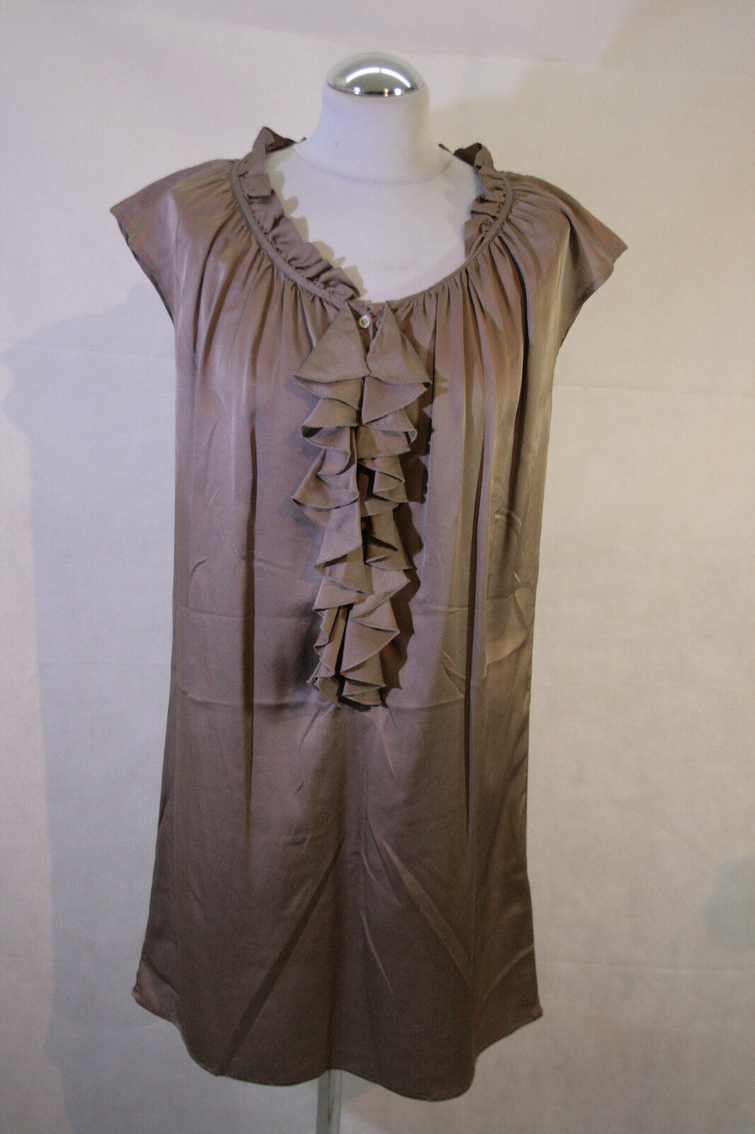 AGLINI Seide Kleid Gr. 40  272 61  Bitte messen
