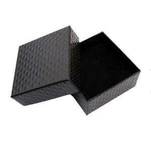 quadratische-Form-Schmuck-Ohrringe-Ringe-Geschenkboxen-Schwarz-Square-Karto-O3W5