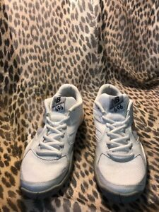 new concept 9c2ee 53511 Details about New Balance 696 White Tennis Shoes Womens SZ 8 US WC696WS2  EXCELLENT