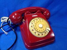 Telefono vintage a disco marca SIEMENS colore BORDRAU