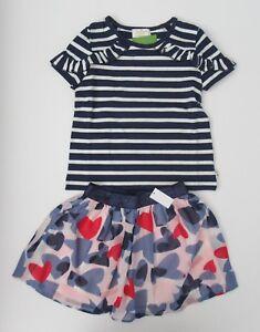 c1c0d307d NWT Kate Spade Girls SS Striped Top & Confetti Hearts Skirt Set 5 6 ...