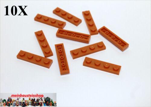 10X Lego® 3710 Platten Plate 1X4 Dunkelorange Dark Orange Neu 6074892