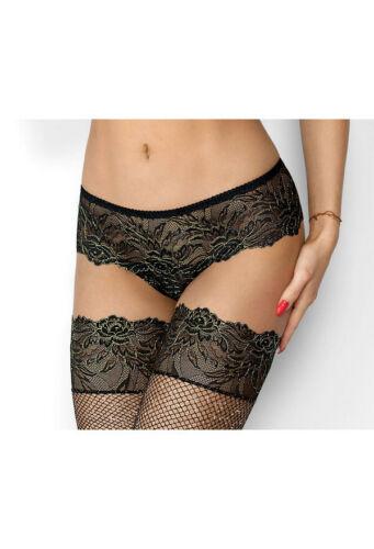 Slip Panty schwarz aus Spitze Axami Dessous S M L XL Damen Unterwäsche