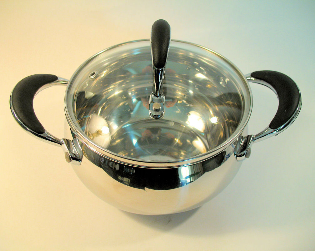 Il Mulino New York Stainless 1 Qt Saucepan with Lid EUC