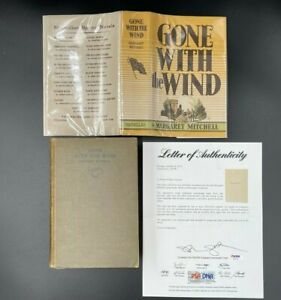 **SIGNED** May 1936 1st Printing GONE WITH THE WIND First Edition w/DJ (PSA LOA)