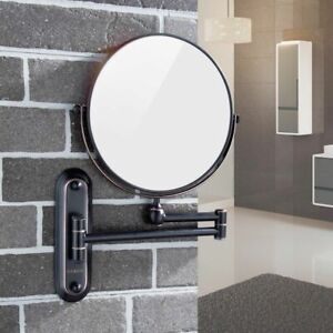 Details About Gurun Bathroom Hotel Makeup Mirror Wall Mounted 5x Magnifying Oil Rubbed Bronze