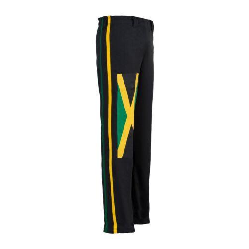Jamaica Reggae Black Brasil Capoeira Martial Arts Elastic Sport Trousers Pants