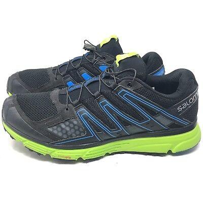 cec9112668 Salomon Mens X-Mission 3 Black Green Trail Running Shoes Sneakers Sz ...