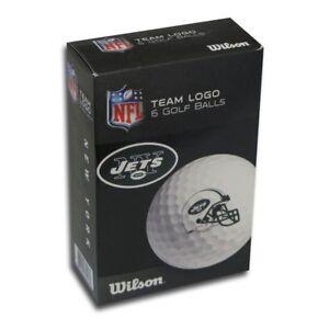 Image is loading New-York-Jets-Wilson-Premium-6-Golf-Ball- 979d90496