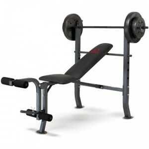 Image Is Loading Weight Bench With Weights Home Gym Lifting Press