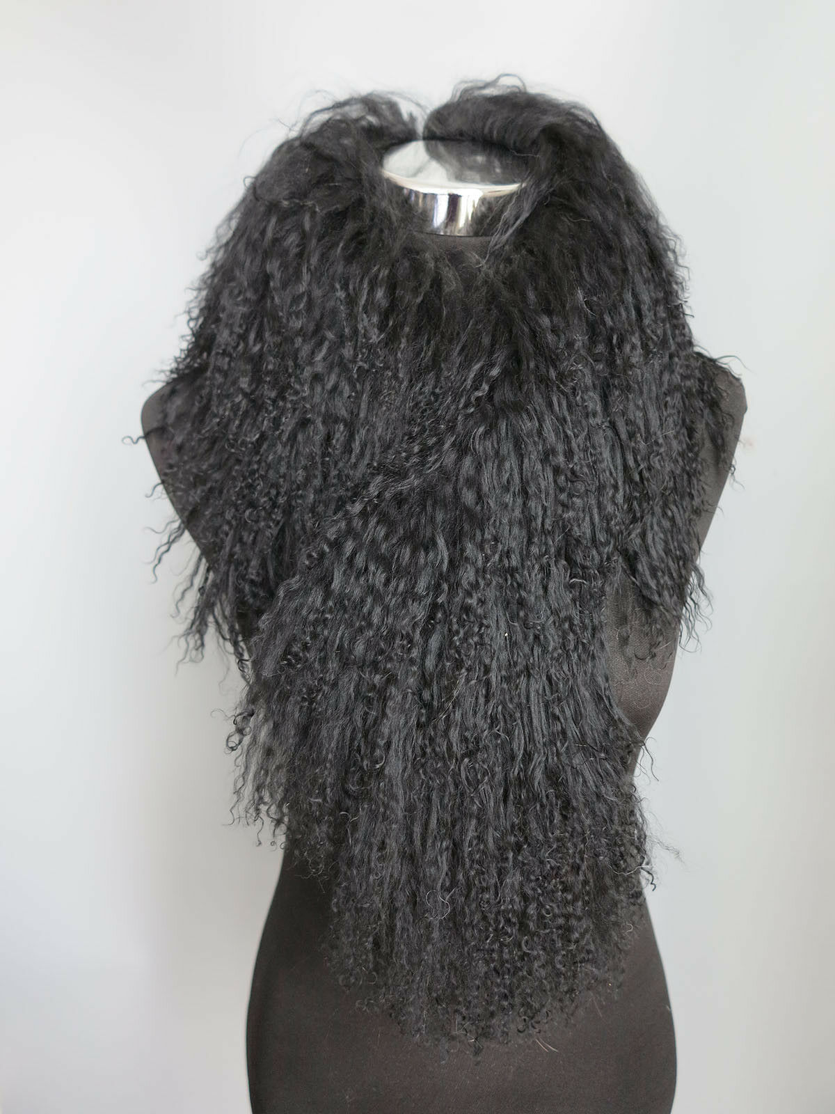 Real Mogolian lamb fur scarf /fur collar/ fur wrap /bla