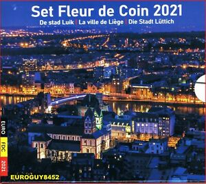 BELGIE - BU SET 2021 - DE STAD LUIK - 10 MUNTEN
