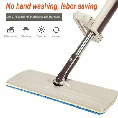 Lazy Hand wash-Free Flat Mop Hands-Free Washable Mop Washing Floor Double-Side B