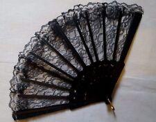 Spanish Lace Flamenco Dancing Folding Hand Held Fan Summer Plastic Costume UK