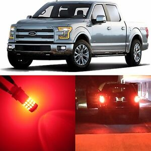 Image is loading Alla-Lighting-Signal-Brake-Stop-Light-Red-LED- & Alla Lighting Signal Brake Stop Light Red LED Bulb for Ford F150 ... azcodes.com