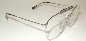 866a6f89a96 RAY BAN RB 3747V 2501 SILVER AND GRAY METAL EYEGLASS FRAME 140 47 ...