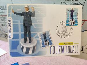 DéVoué Cartolina Le Istituzioni Polizia Locale Roma Timbro 2008 Poste Filatelia L5 Saveur Aromatique
