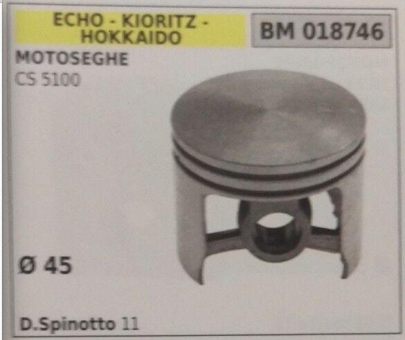PISTÓN COMPLETO DE SEGMENTOS MOTOSIERRA ECO CS 5100 HOKKAIDO KIORITZ DIámetro 45