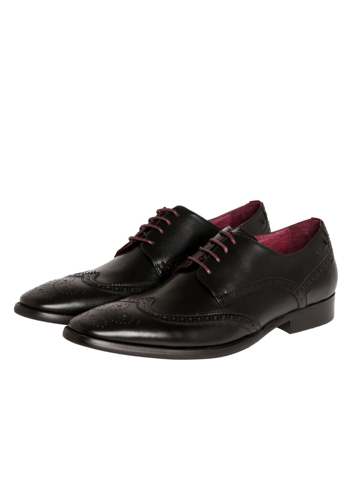 Scarpa all'inglese Nera Digel in vera Pelle modello Derby in tutte le Misure Scarpe classiche da uomo