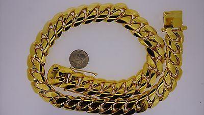 1 Kilo 10k Solid Gold Miami Cuban Link