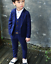 3Pcs Kids Toddlers Boys Party Check Blazer Suit Jacket Casual Wedding Suit L05