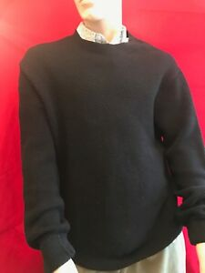 Rrp Armani Bnwt Waffle £110 Xl Exchange Pullover Ideal Gift Knit Men's Black v7dUycdq