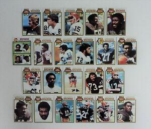1979 Topps Cleveland Browns Lot 22 Sipe Pruitt Hill Logan Dieken MINT