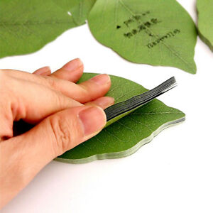 50pcs cute leaf sticky notes memo pad leaves note paper sticker pads