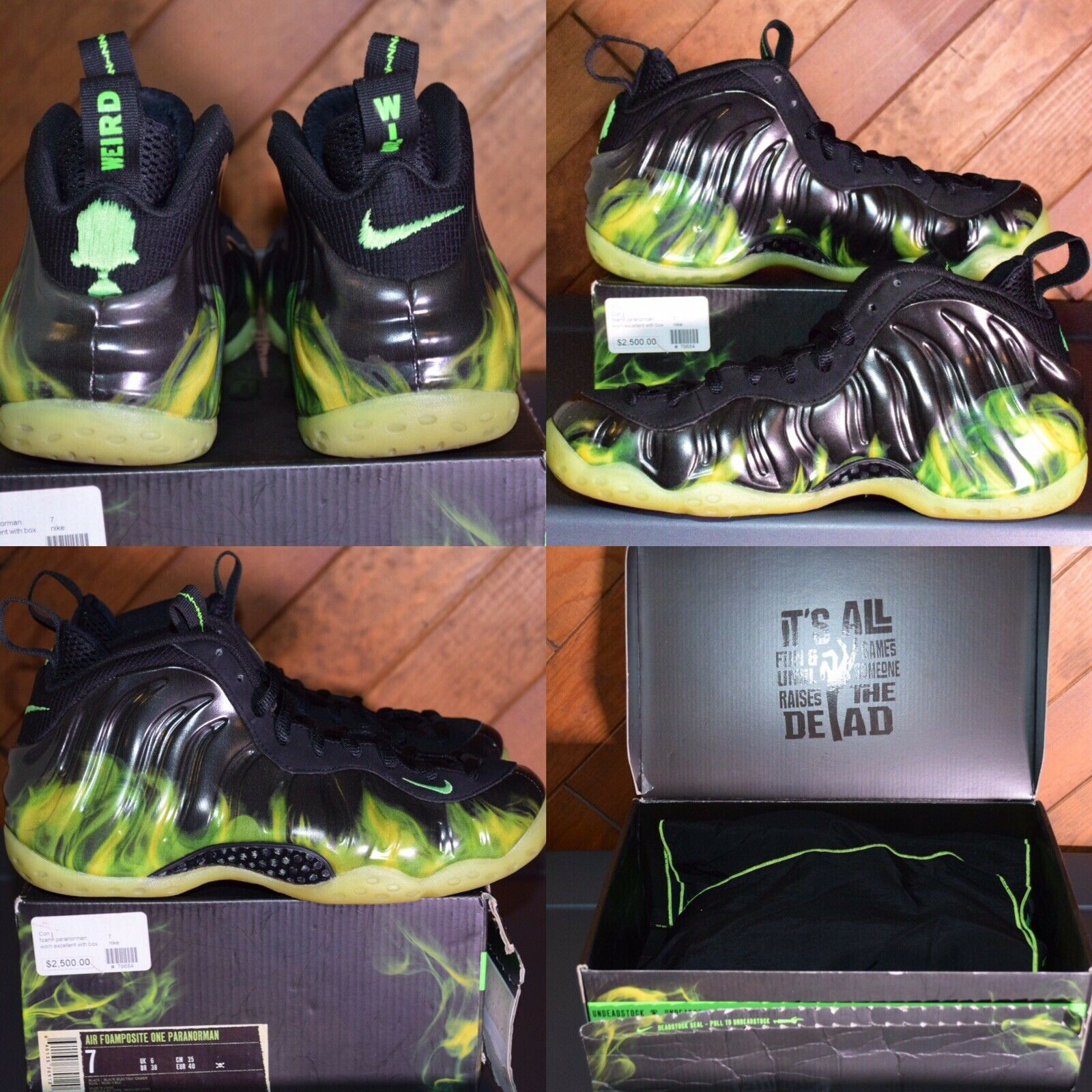 2012 NIKE AIR FOAMPOSITE PARANORMAN WEIRD WINS,  With OG Everything Size 7