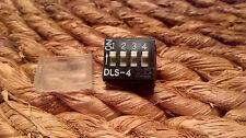 Lot de 3 commutateurs PCB x Mini Switch 4 Way DIP DIL Switch DLS-4