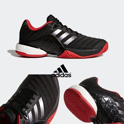 Details about adidas Barricade 2018 New Men's Tennis Shoes Core Black Flash Red Sport AH2092