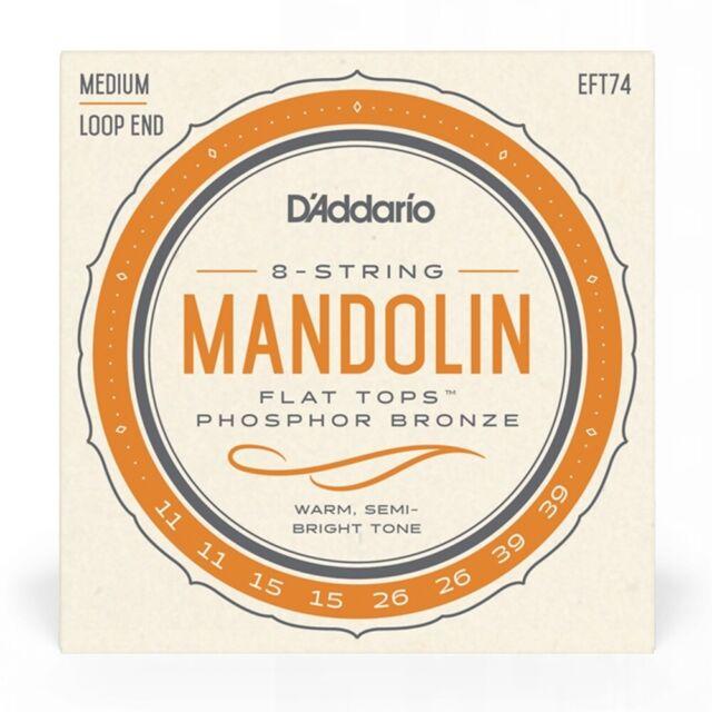 D'Addario EFT74 Flat Tops Medium Mandolin Strings ( 11 - 39 )