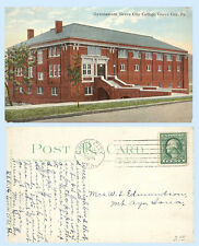 Gymnasium Building Grove City College Pennsylvania 1911 Postcard Architecture