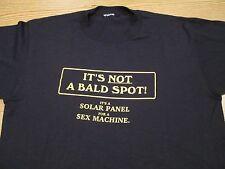 vtg 80s IT'S NOT A BALD SPOT IT'S A SOLAR PANEL FOR A SEX MACHINE T-Shirt M/L