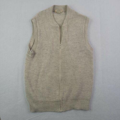 Vintage LL Bean Sweater Vest Adult Large Men Beig… - image 1
