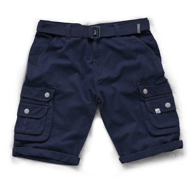 Scruffs Cargo Work Combat Shorts, Size 30-38, Navy FREE BELT