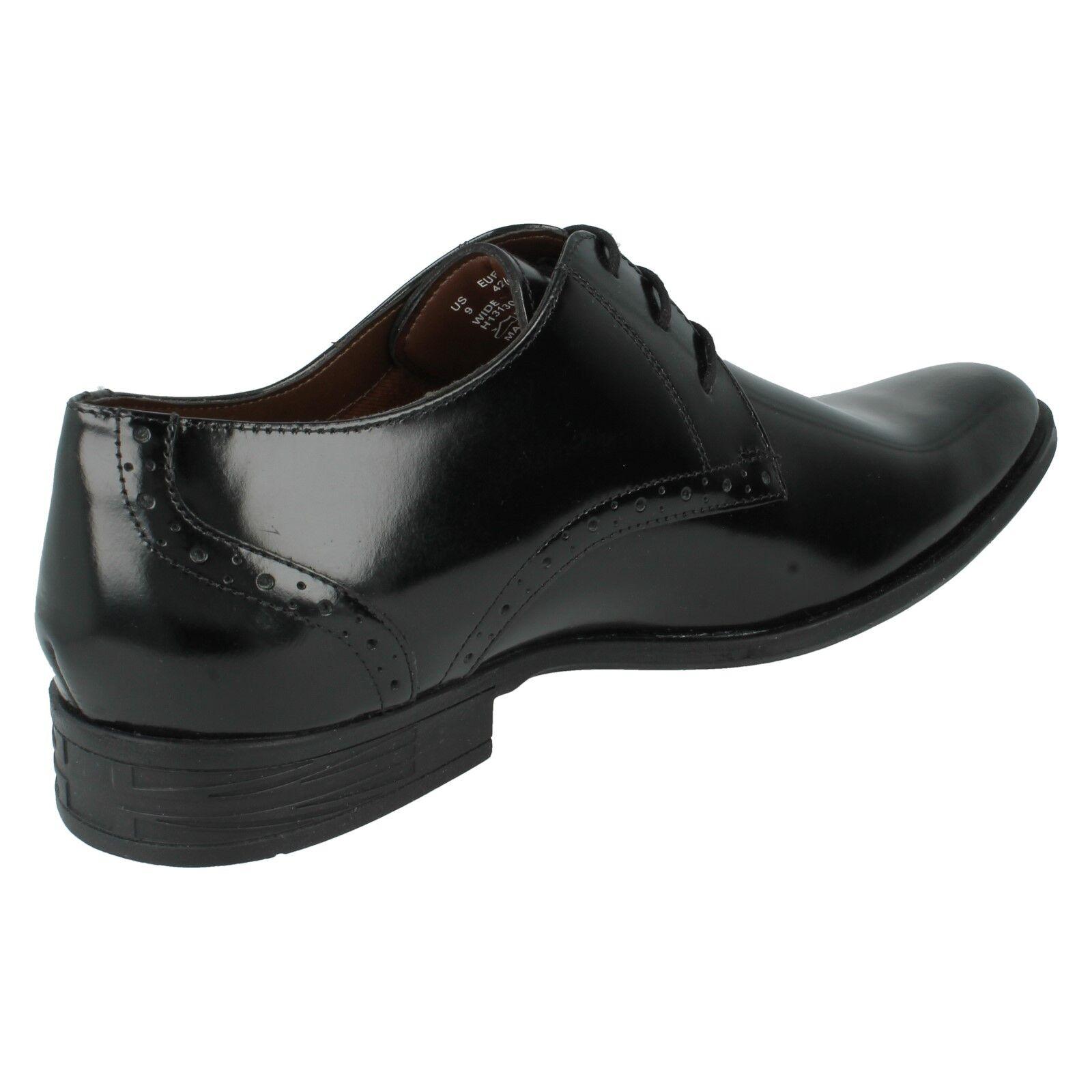 Hush Puppies cordón de cuero cuero cuero negro para hombre Formal corte ancho 1fa4fe