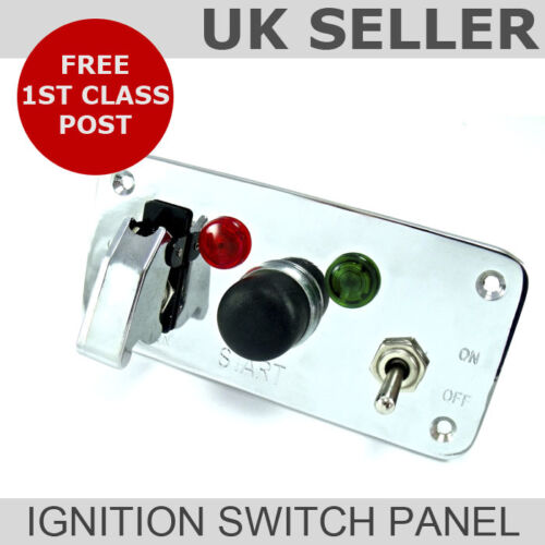Silver Cover Ignition Switch Panel Push Button Start