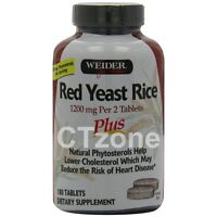 180 Weider Red Yeast Rice Plus Phytosterols Lower Cholesterol Heart 180 Tablets